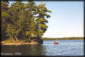 Canoeing on Big Rideau Lake